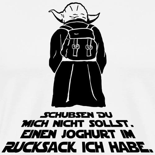 Yoda - Joghurt im Rucksack - Männer Premium T-Shirt