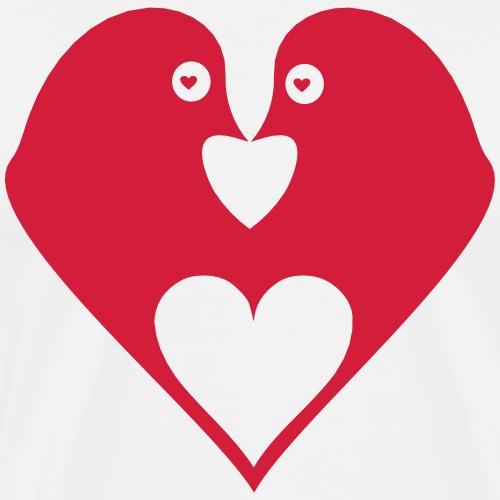 Tauben Liebe - Männer Premium T-Shirt