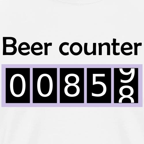 Bier counter / Bier Zähler englisch - Männer Premium T-Shirt