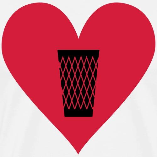 LOVE GERIPPTES - FRANKFURT LOVE - Männer Premium T-Shirt