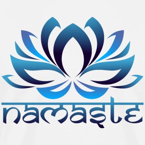 Loto Yoga Namaste Agua - Camiseta premium hombre