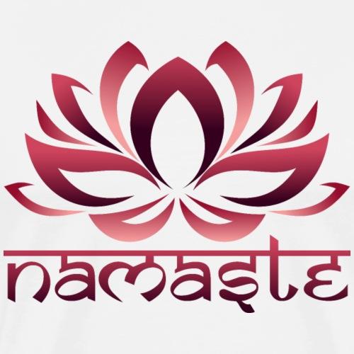 Loto Yoga Namaste Atardecer - Camiseta premium hombre