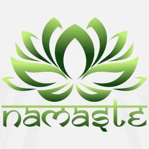 Loto Yoga Namaste Vida - Camiseta premium hombre
