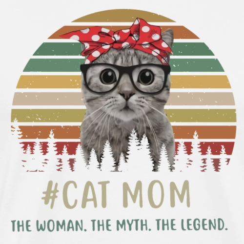 cat mom - Men's Premium T-Shirt