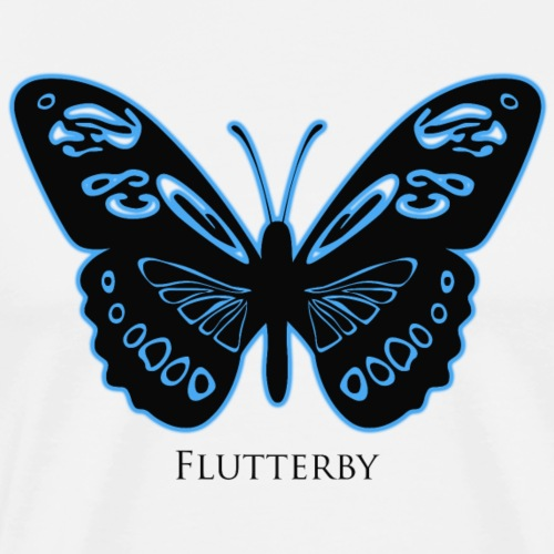 Flutterby Black - Blue Glow
