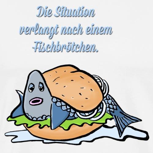Fischbroetchen - Männer Premium T-Shirt