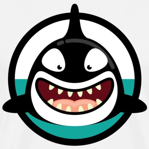 Happy Orca Killer Whale - Men's Premium T-Shirt