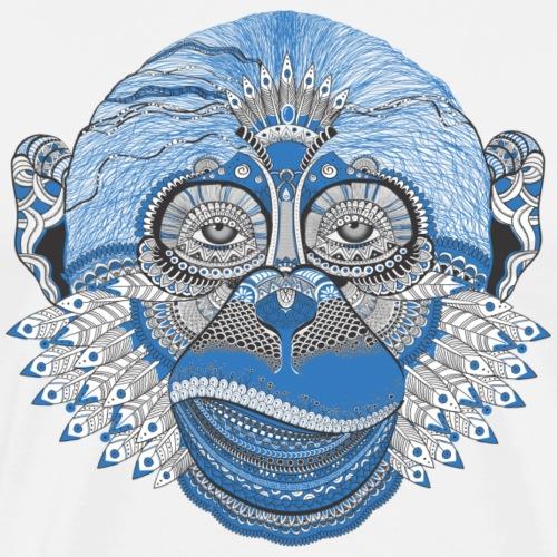 Affe blau - Männer Premium T-Shirt