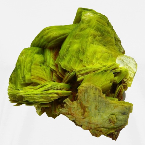 Uranocircit Uranglimmer Mineral Kristall - Männer Premium T-Shirt