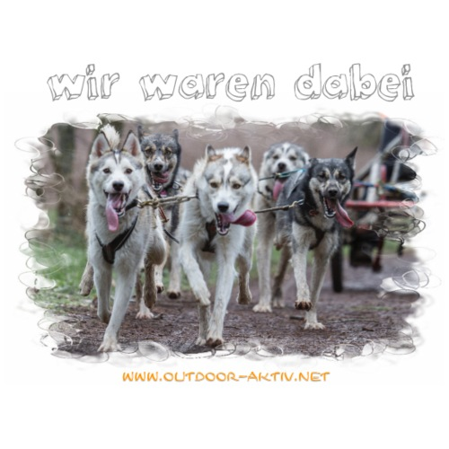 Schlittenhundefahrt - Männer Premium T-Shirt