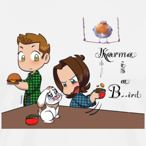 Karma is a Bird - Männer Premium T-Shirt