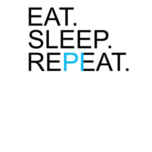 Eat Sleep Repeat PI Mathe Hell - Männer Premium T-Shirt