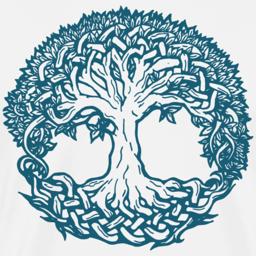 Lebensbaum Boho Blau Natur Keltisch Geschenk norse - Männer Premium T-Shirt