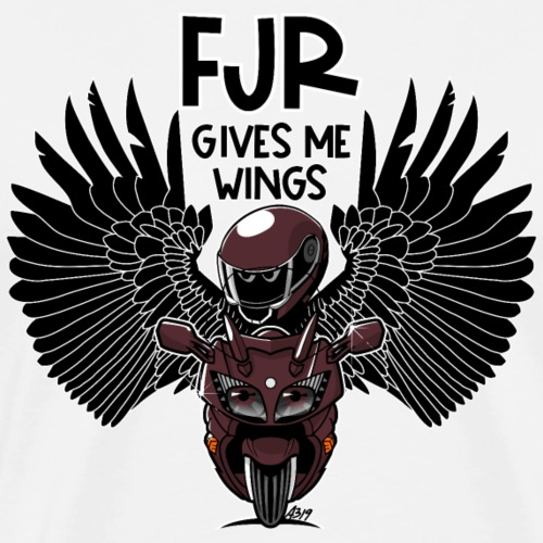FJR (redsky) gives me wings - Mannen Premium T-shirt