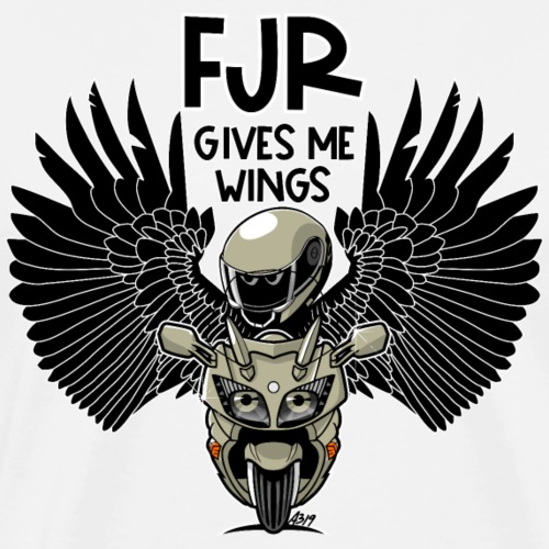 FJR (desertmetalic) gives me wings - Mannen Premium T-shirt