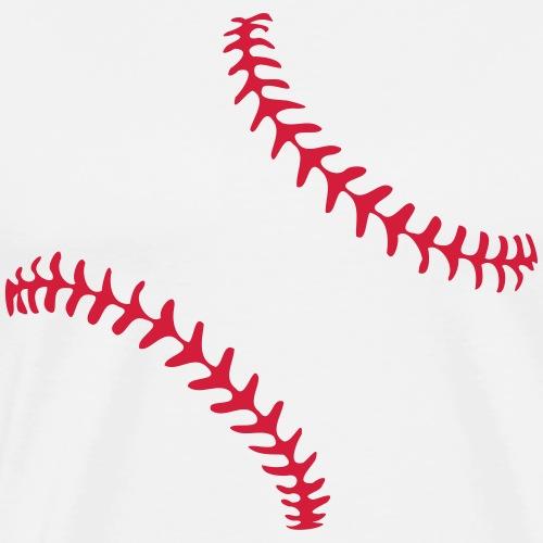 Realistic Baseball Seams - Men's Premium T-Shirt