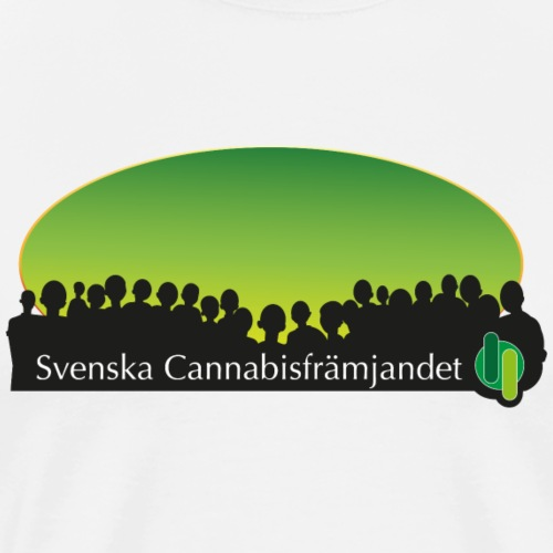 Svenska Cannabisfrämjandet - Premium-T-shirt herr