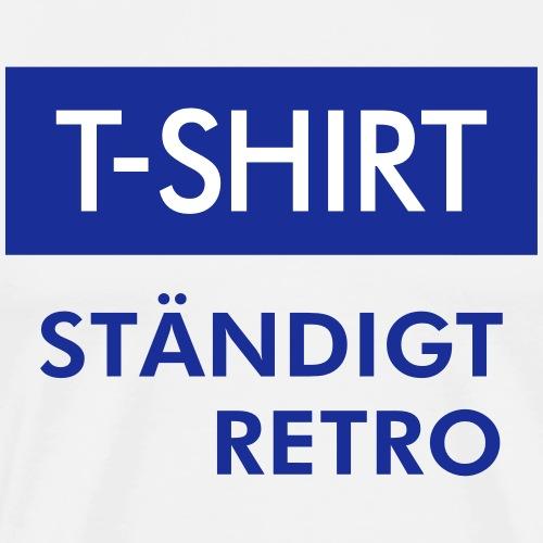 BLÅVITT T-SHIRT - Premium-T-shirt herr