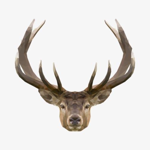 Polygon Deer - Koszulka męska Premium
