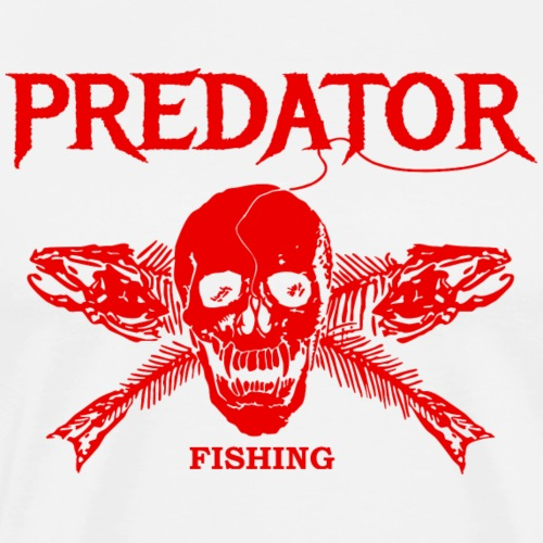 Predator fishing red - Männer Premium T-Shirt