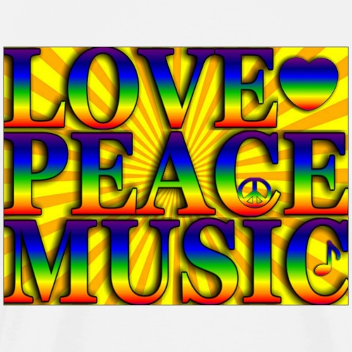 Love Peace and Music - Men's Premium T-Shirt
