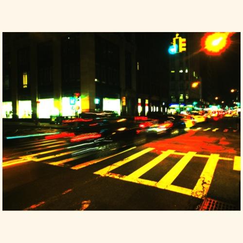Auto a Manhattan - Maglietta Premium da uomo