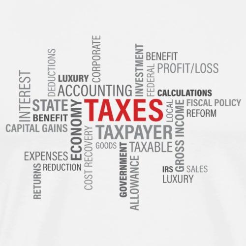 tax text print - Herre premium T-shirt