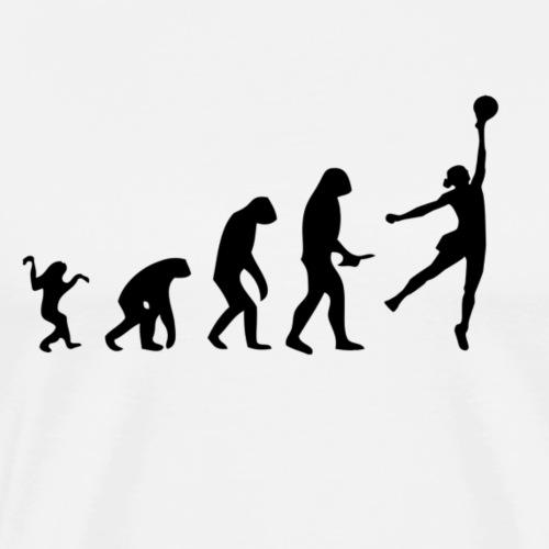 Evolution of Human to a Basketball Woman - Männer Premium T-Shirt