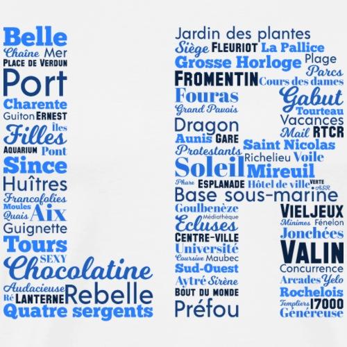 La Rochelle Mots Bleus - T-shirt Premium Homme