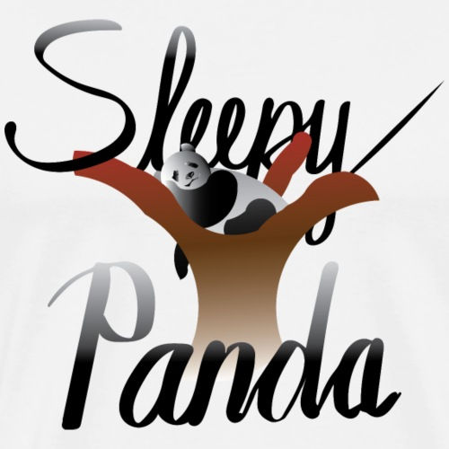 Sleepy Panda - Men's Premium T-Shirt