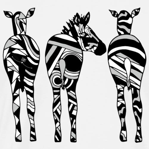 Drei Zebras - Männer Premium T-Shirt