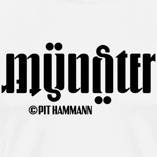 Ambigramm Münster 01 Pit Hammann - Männer Premium T-Shirt