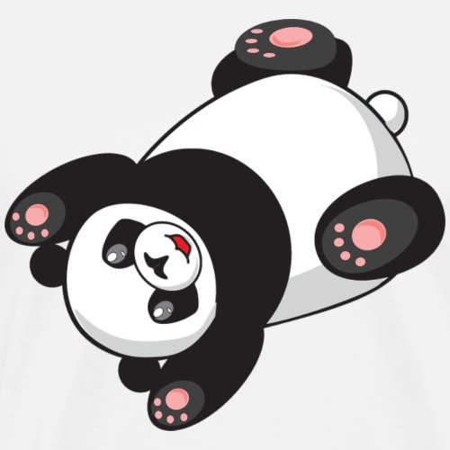 Panda Tier lieb Süß - Männer Premium T-Shirt