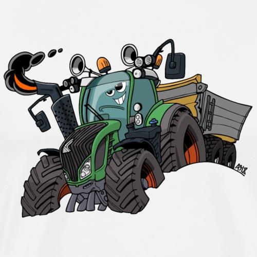 F 718Vario met kar - Mannen Premium T-shirt