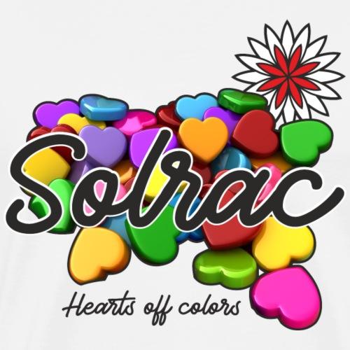 SOLRAC Hearts White - Camiseta premium hombre