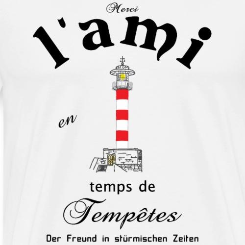 Freund auf Französisch und Deutsch - Männer Premium T-Shirt