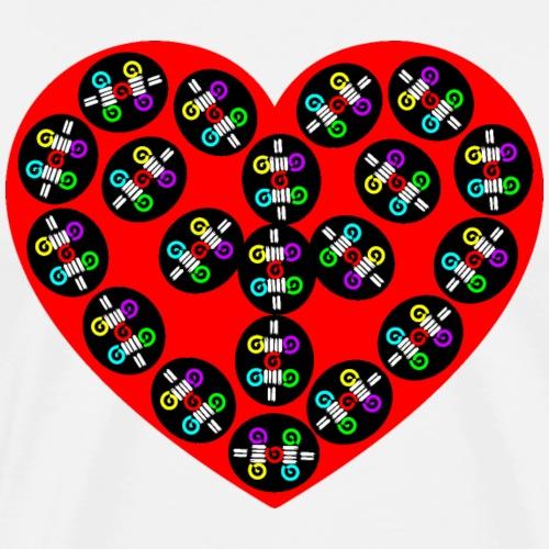 Herz, Herz rot, Herzmuster, Herz auf T-Shirt - Männer Premium T-Shirt