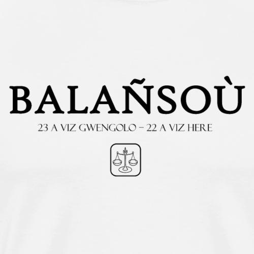 Bretagne - Balañsoù - Balance - T-shirt Premium Homme