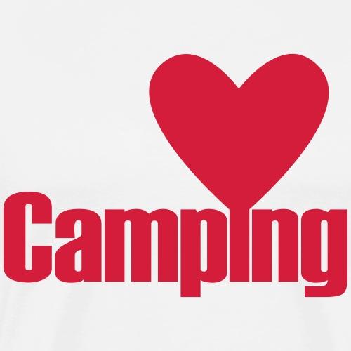 Camping mit Herz - Männer Premium T-Shirt