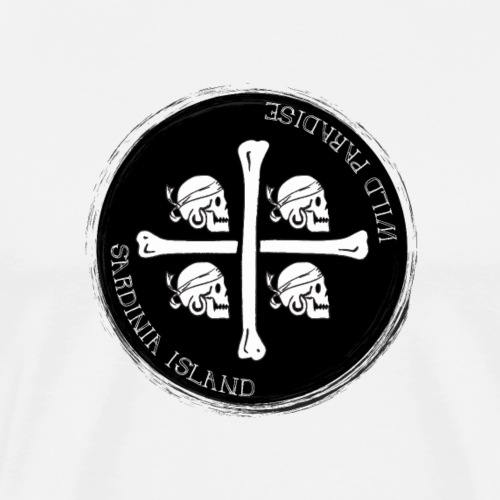 Sardegna Quattro Mori Pirata - Maglietta Premium da uomo