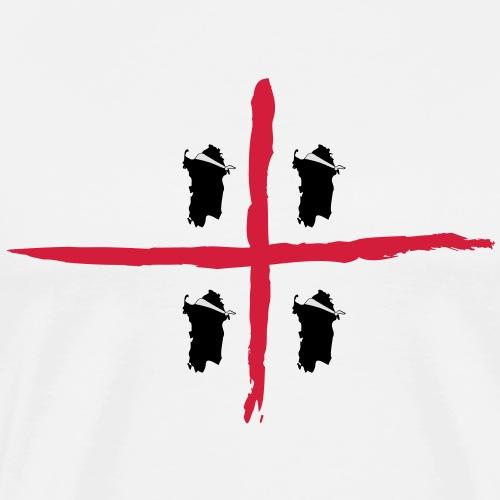 Sardegna Bendata, 4 Mori orizzontale - Maglietta Premium da uomo