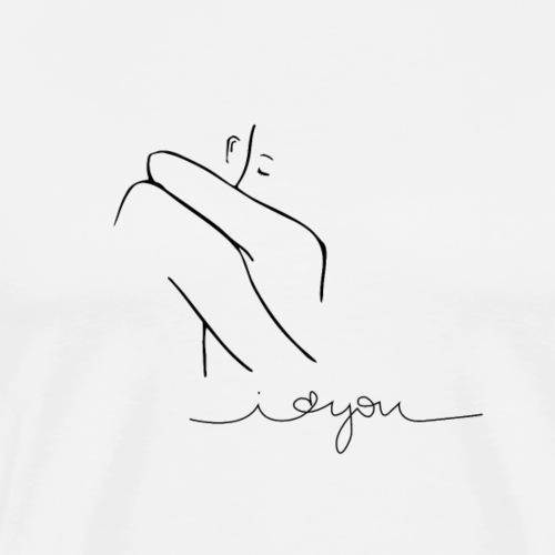 Regalo San Valentino Coppia | Sagome Abbracciate - Maglietta Premium da uomo