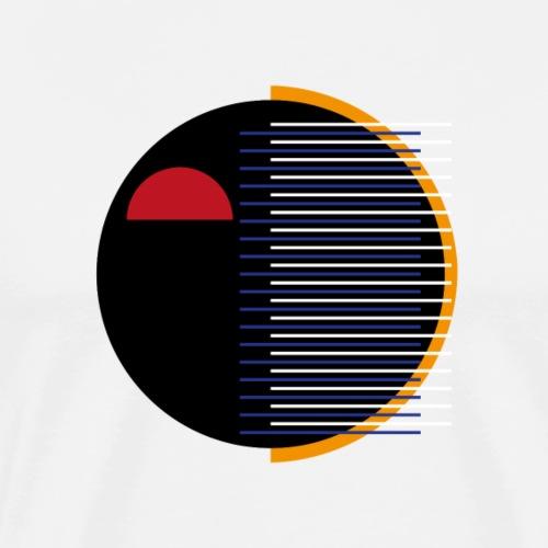 Musta kasvot - Miesten premium t-paita