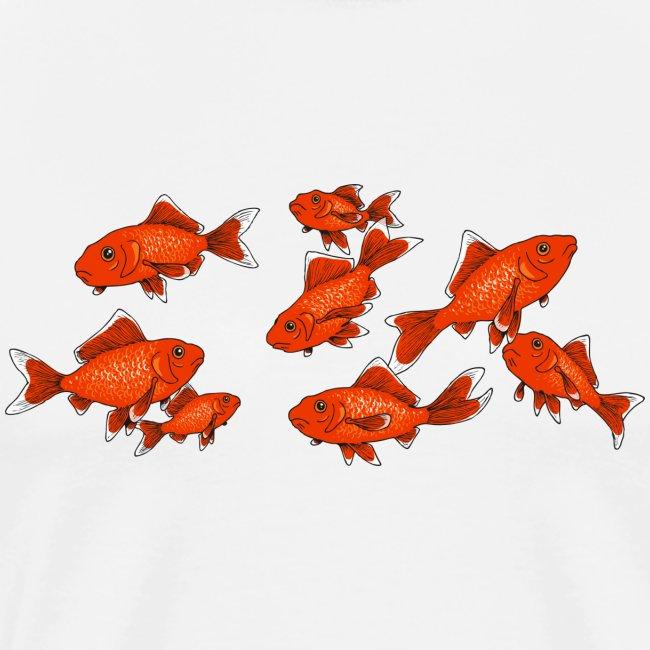 Les petits poissons rouges
