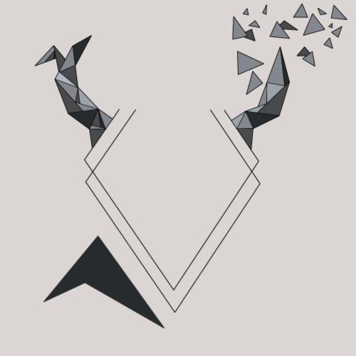 Cerf Triangulaire Gris - T-shirt Premium Homme
