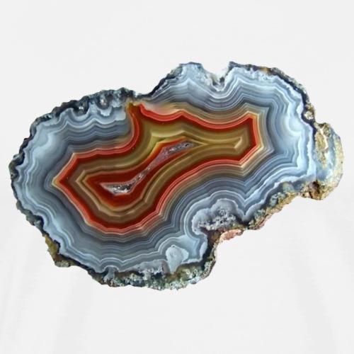 Achat Mineral Quarz Druse Geologie Schmuckstein - Männer Premium T-Shirt