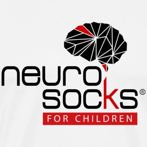 NeuroSocks for Children | Schwarz-Rot - Männer Premium T-Shirt