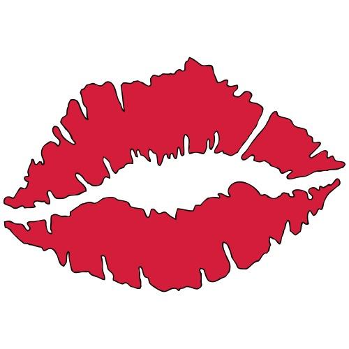 Lipstick Kisses - Men's Premium T-Shirt