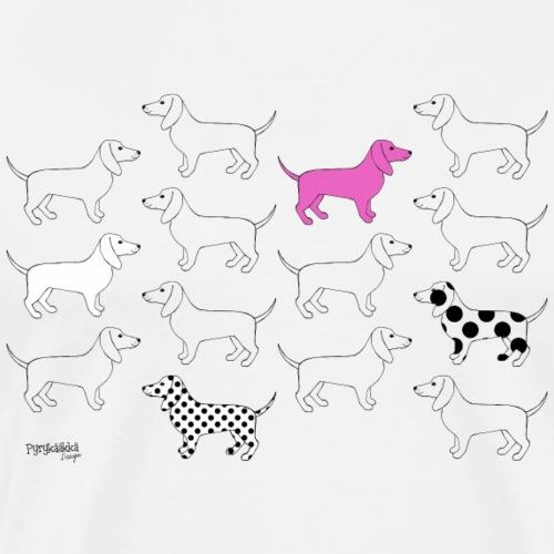 Puppies forever - Miesten premium t-paita