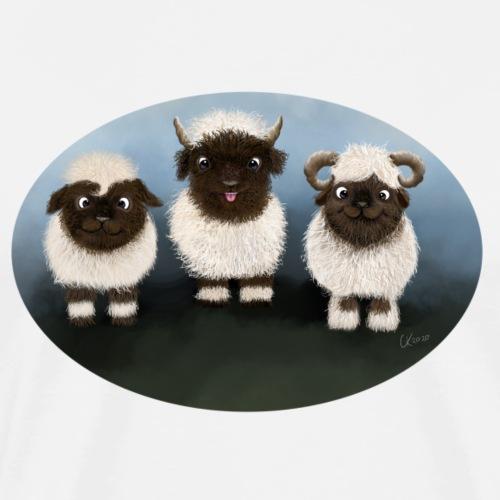 Walliser Schafe - Männer Premium T-Shirt